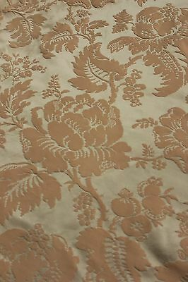Silk brocade Curtain Celadon green  drape French c 1950's BEAUTIFUL