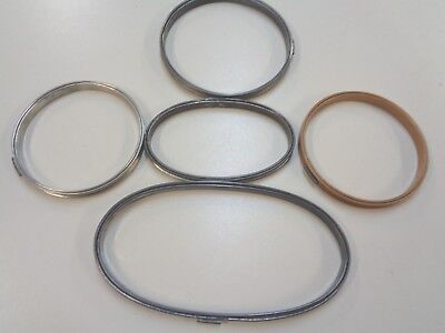 Mixed Lot 5 Metal  Embroidery Hoops  With Cork