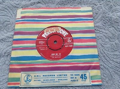 the beatles - love me do  original uk red label record  1962  rare KT tax code