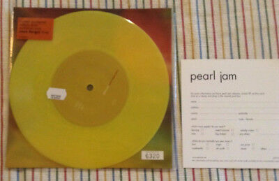 "PEARL JAM Light Years YELLOW numbered 7"" vinyl NEW 2000"