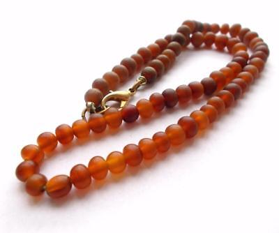 Vintage 1970's Genuine Amber Beads Beaded Necklace