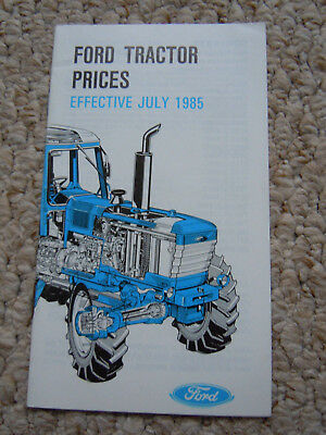 @Vintage Ford Tractor Prices List Effective July 1985@