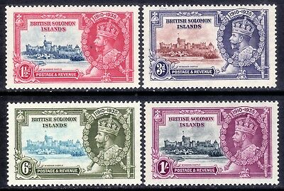 British Solomon Islands, Set Of 4, Sg53 - 56, Lightly Mounted Mint, 1935
