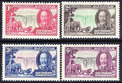 Southern Rhodesia, Set Of 4 Silver Jubilee,  Sg31 - 34, Unmounted Mint Mnh, 1935