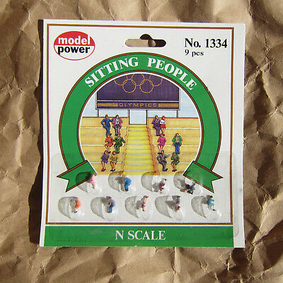NEW ~ SITTING PEOPLE Figures by Model Power ~ N Scale Lot ~ Mayhayred Trains