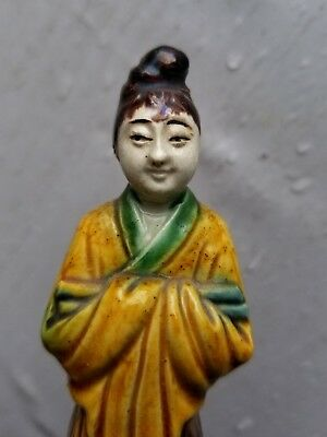 Rare Antique China Chinese Porcelain Ceramic Glazed Figurines Stone Carved Old