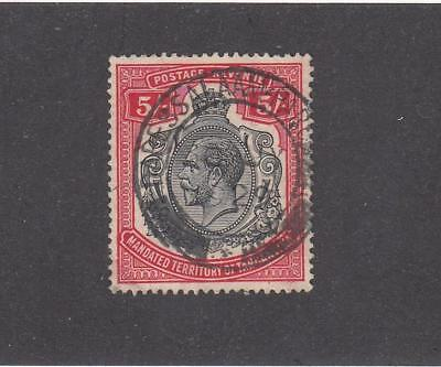 TANGANYIKA # 42 VF-SON KGV 5sh HIGH KEY VALUE CAT VALUE $27.50