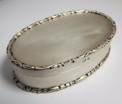 Superb Clean Large English Antique 1912 Solid Sterling Silver & Gilded Table Box
