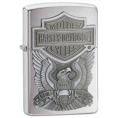Zippo Harley-Davidson Eagle with Logo Emblem Pocket Lighter
