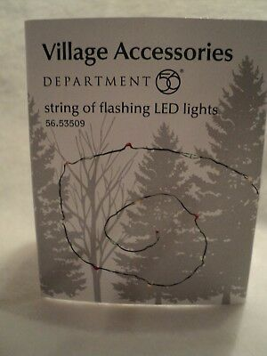 """Dept. 56 General Village Accessories """"STRING OF FLASHING LED LIGHTS"""" ~ Many Uses"""