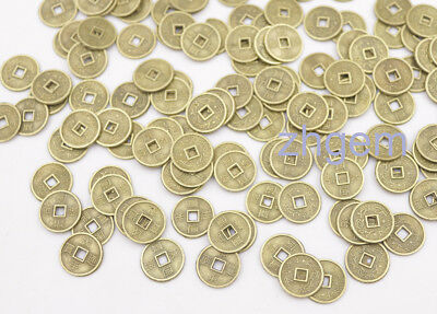 100 pcs Mix lot replica chinese Qing Dynasty 10mm coins feng shui copper alloy