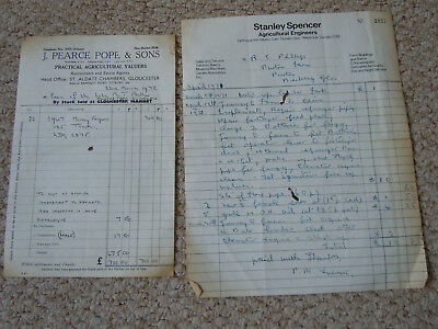 @Vintage Massey Ferguson 135 Tractor Invoice & Invoice for Other Machinery Work@