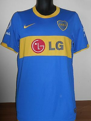 Boca Juniors Home Shirt ( 2010) medium men's  #664