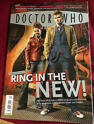 Vintage Dr Who Magazine -Ring In The New!- #378 January 31, 2007 -10Th Doctor
