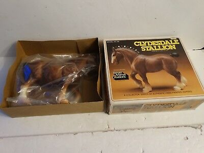 Vintage Breyer horse #80 clydesdale stallion mint in box dated 1982