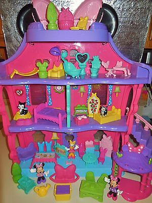 Fisher Price Disney Magical Bow Sweet Home House Bowtique Minnie Mouse Doll Lot