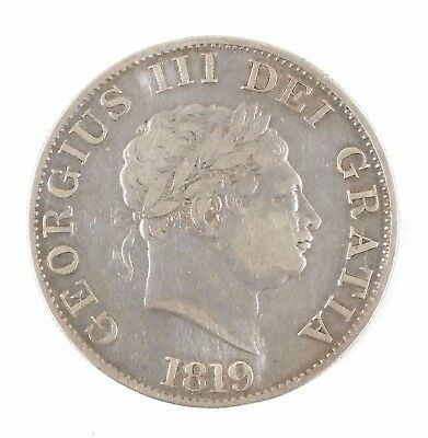 1819 Great Britain George III British Half Crown Silver Coin