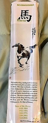 YEAR OF HORSE New Year Chinese Zodiac Sign Collectible EZ CHOPSTICKS Painting