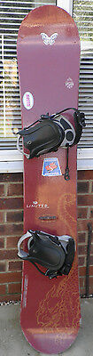 Snowboard with Bindings by Limited (Canada) 156cm L x 25-29.3 cm W