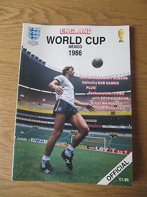 1986 World Cup - Official ENGLAND Programme / Brochure Issued By The FA Exc Cond