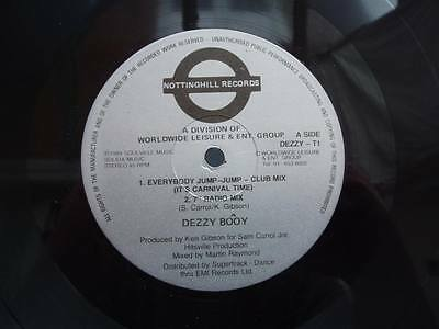 "DEZZY BOOY EVERYBODY JUMP JUMP 1989 4trk 12"" VINYL * soca * NOTTINGHILL RECORDS"