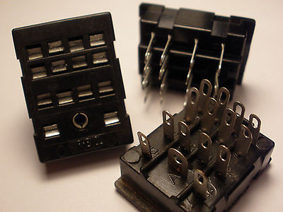 ( 10 Pc. ) Te Connectivity 27E006 Relay Socket For Kha, Pth, Pt Relays, New