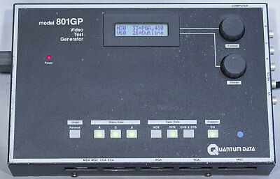 Quantum Data/Teledyne 801GP Portable Video Signal Generator