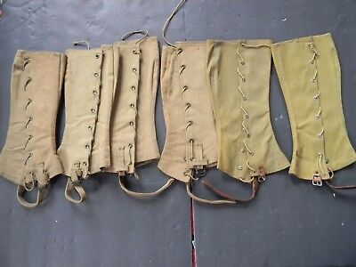 3 Pairs Of World War One Spats / Leggings - Wwi