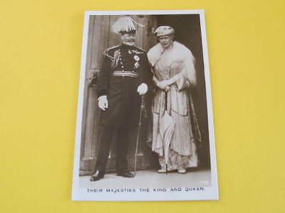 KGV Their Majesties The King & Queen Postcard