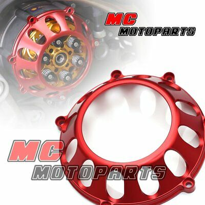 Red For Ducati Billet Clutch Cover For Hypermotard 1100 HY M1100 M900  CC27