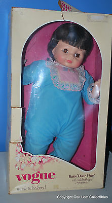 Beautiful Vintage Baby Dear One Doll by Vogue, Original Outfit! IN BOX! MIB