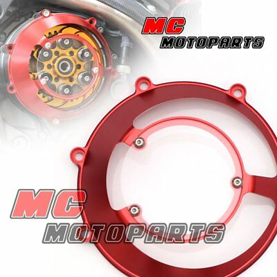 Red For Ducati Open Billet Clutch Cover 748 999 1098 1198 S R 916 998 CC31