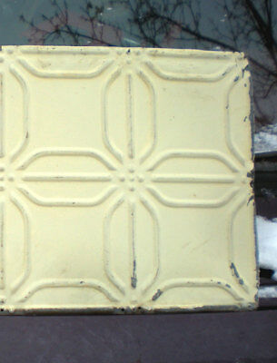 SALE  Antique Ceiling Tin Tile Frame Simple and Elegant Shabby Chic Canvas