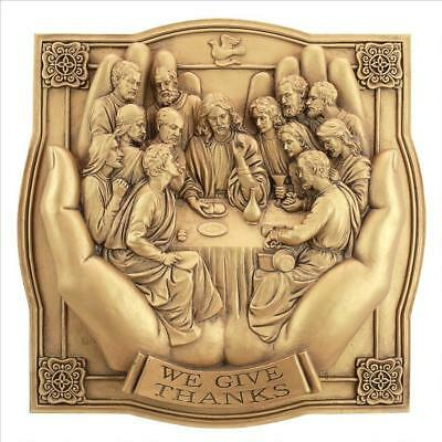 The Last Supper in Christ's Hands Ancient Antique Replica Wall Sculpture