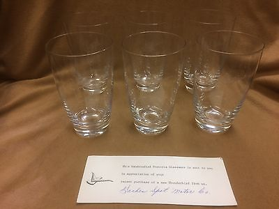 1960's Thunderbird Ford dealer Fostoria drinking glass set with documentation