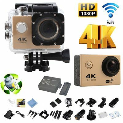 4K WIFI Action Camera 1080P 2.0 LCD 170D GO BIKE SPORT WATERPROOF PRO CAMERA  UK