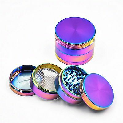 Tobacco Herb Spice Grinder 4 Piece Herbal Alloy Smoke Metal Chromium Crusher JAD
