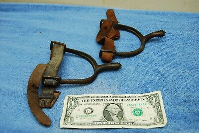 2 pc Pair Antique Brass Western Cowboy's Spurs