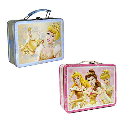 Disney Princess Tin LunchBoxes Girls Keepsake Jewelry Case Gift Bag Lunch Box