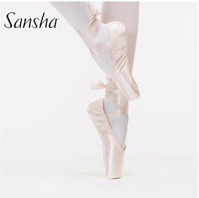 Sansha Ballet Shoes Kids Girls Ladies Infanta Prince Silk Toe shoes Pointe Shoes