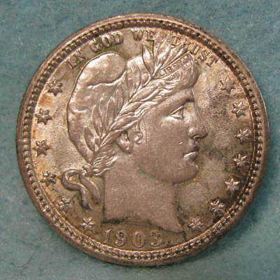 1903 Barber Silver Quarter Choice Almost Uncirculated Nice Coin! * US Coin *
