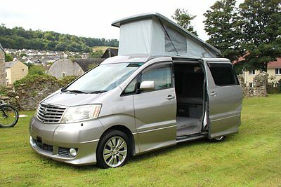 Toyota Alphard mpv camper vans . Fresh imports in stock ready to go !