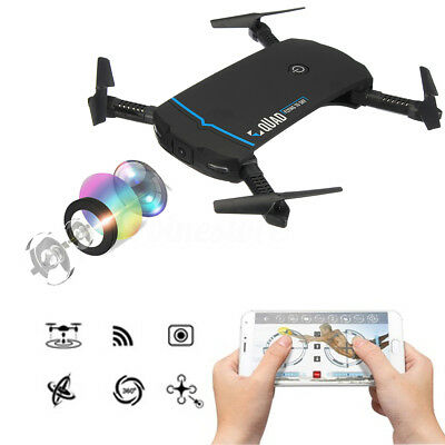 Foldable G-Sensor Selfie Drone Wifi FPV 2.4G HD Camera Mini Pocket Quadcopter RC