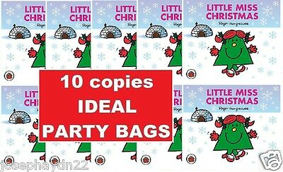 NEW x 10 COPIES of LITTLE MISS CHRISTMAS    ideal  PARTY BAGS Mr Men