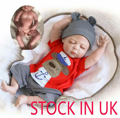 "Bambole Reborn Baby Doll Newborn Doll Baby Playmate Boy Doll 18"" Sleeping Doll"