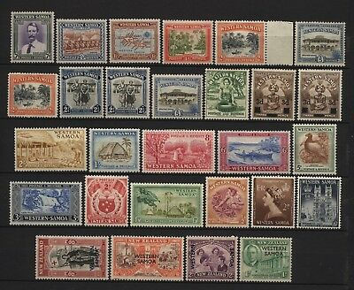 Samoa Collection 28 Pre Decimal Stamps Mounted Mint