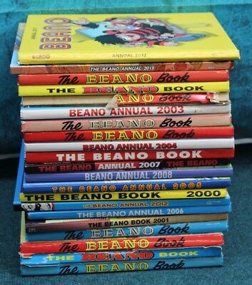 Job Lot of 21 Beano Annuals Mixed 1980's to 2000's (Hospiscare)