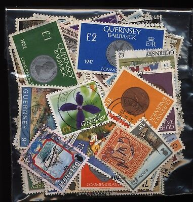 Guernsey Bag 150 Stamps Used