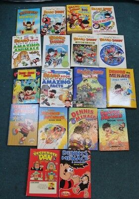 Job Lot of x18 Mixed Beano & Dandy, Dennis The Menace Annuals etc (Hospiscare)