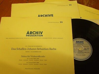 APM 14186-88 Bach The Six Cello Suites / Fournier 3 LP set